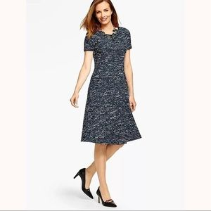 TALBOTS Tri-Color Tweed Fit & Flare Career Dress
